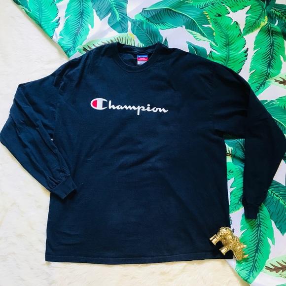 015b042c5 Champion Shirts | Vintage Logo Graphic Tee Long Sleeve Xxl | Poshmark